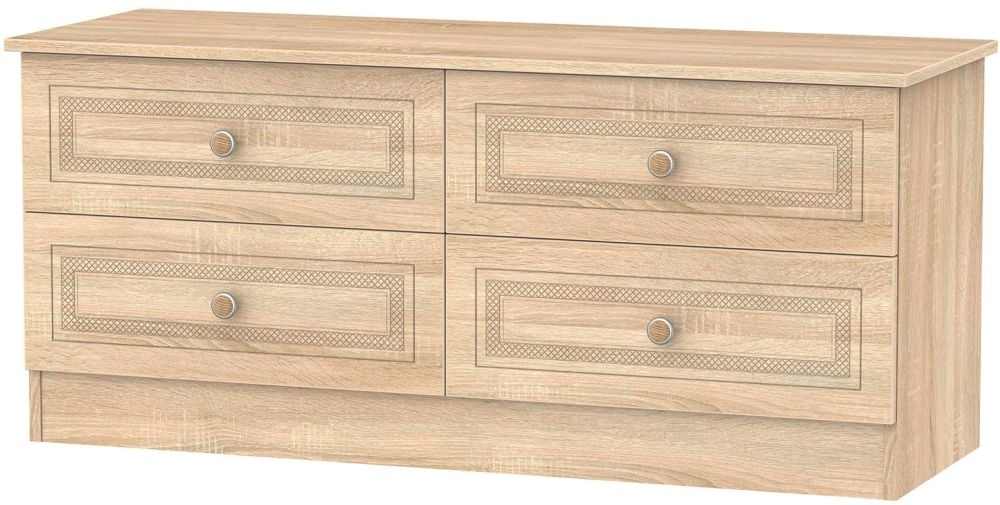 Corrib Bardolino Oak Bed Box - 4 Drawer
