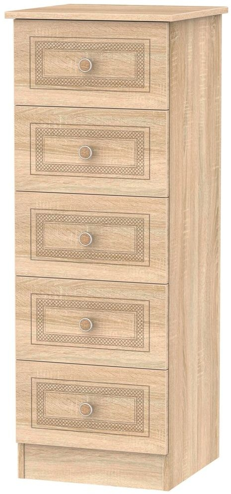 Corrib Bardolino Oak Chest of Drawer - 5 Drawer Locker