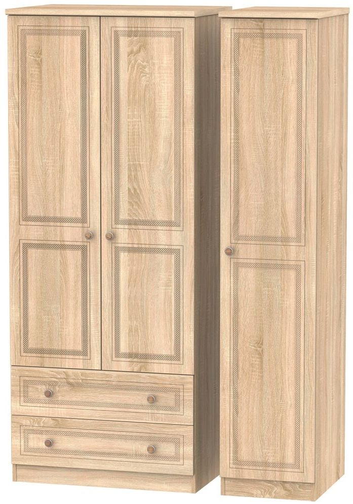 Corrib Bardolino Oak Triple Wardrobe with 2 Drawer