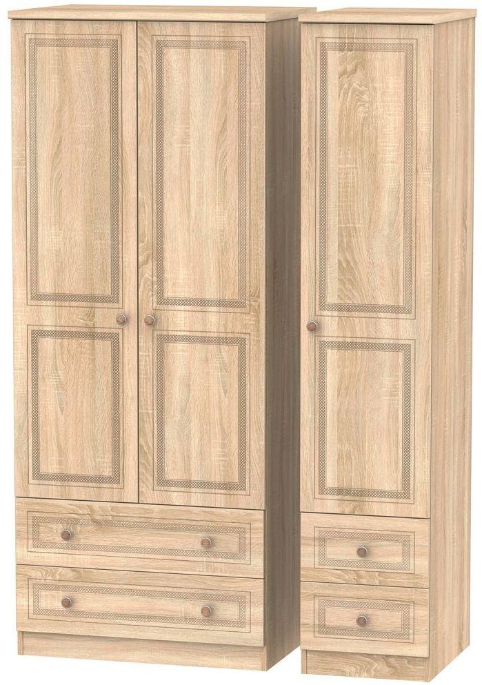 Corrib Bardolino Oak Triple Wardrobe with Drawer