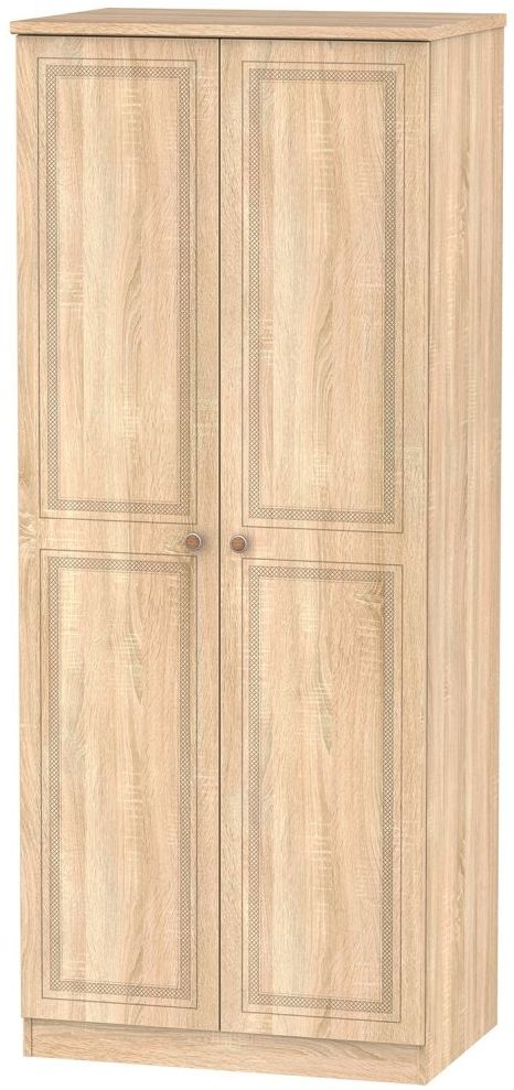 Corrib Bardolino Oak Wardrobe - 2ft 6in with Plain