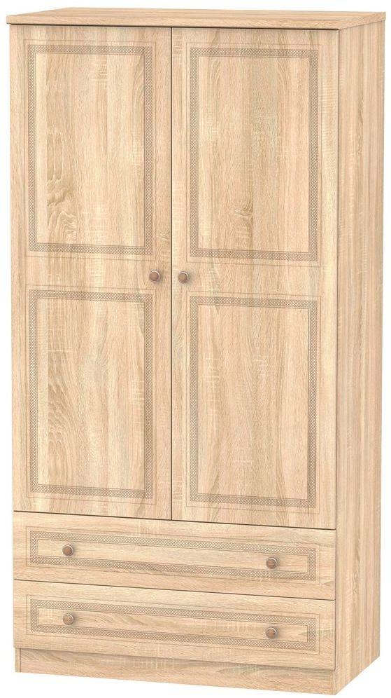 Corrib Bardolino Oak Wardrobe - 3ft with 2 Drawer