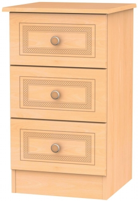 Corrib Beech Bedside Cabinet - 3 Drawer Locker