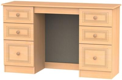 Corrib Beech Dressing Table - Knee Hole Double Pedestal
