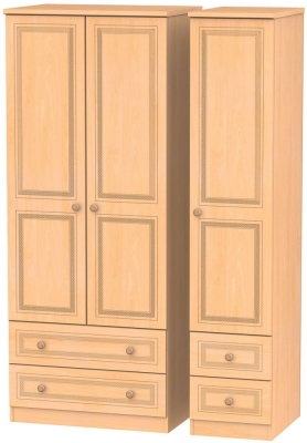 Corrib Beech Triple Wardrobe with Drawer