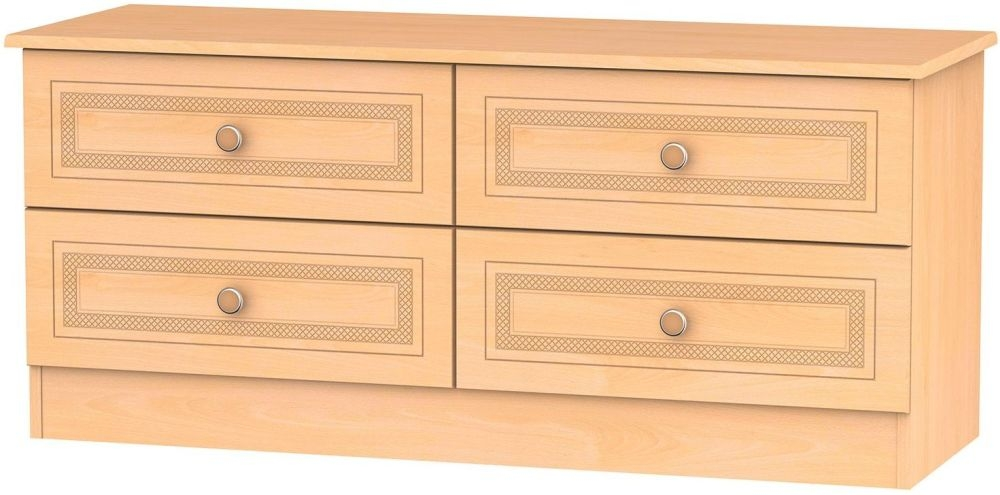 Corrib Beech Bed Box - 4 Drawer