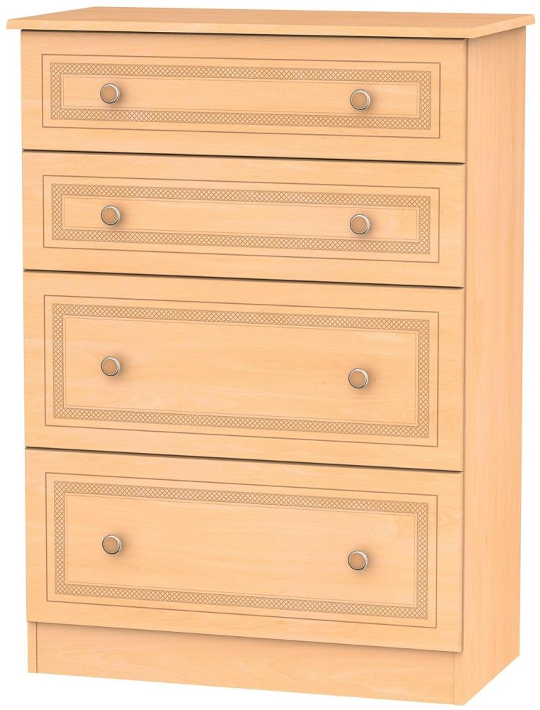 Corrib Beech Chest of Drawer - 4 Drawer Deep