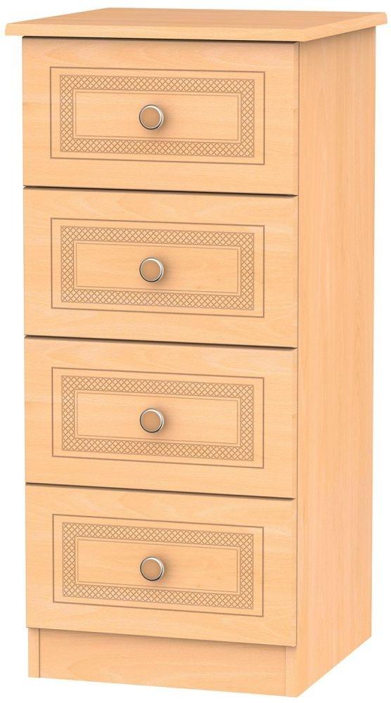 Corrib Beech Chest of Drawer - 4 Drawer Locker