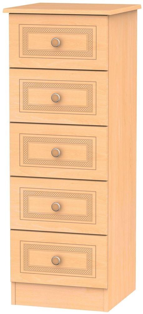 Corrib Beech Chest of Drawer - 5 Drawer Locker