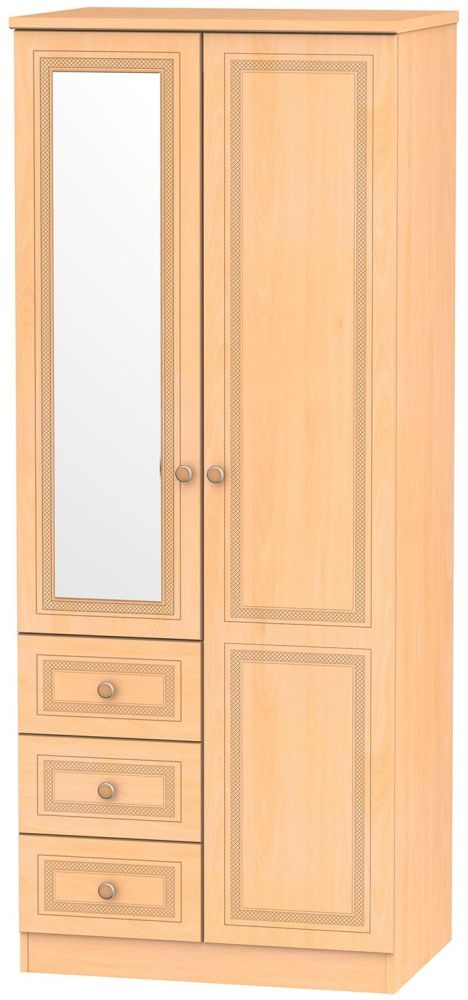 Corrib Beech Combination Wardrobe
