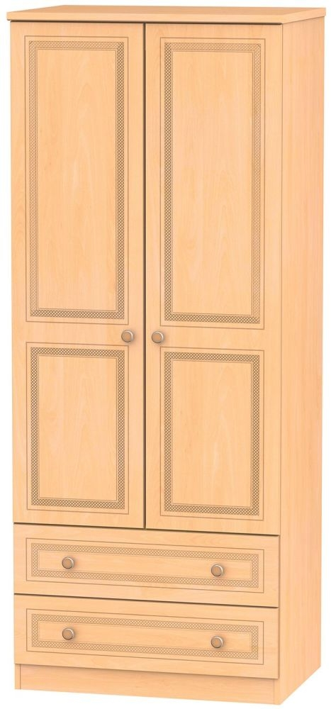 Corrib Beech Wardrobe - 2ft 6in with 2 Drawer