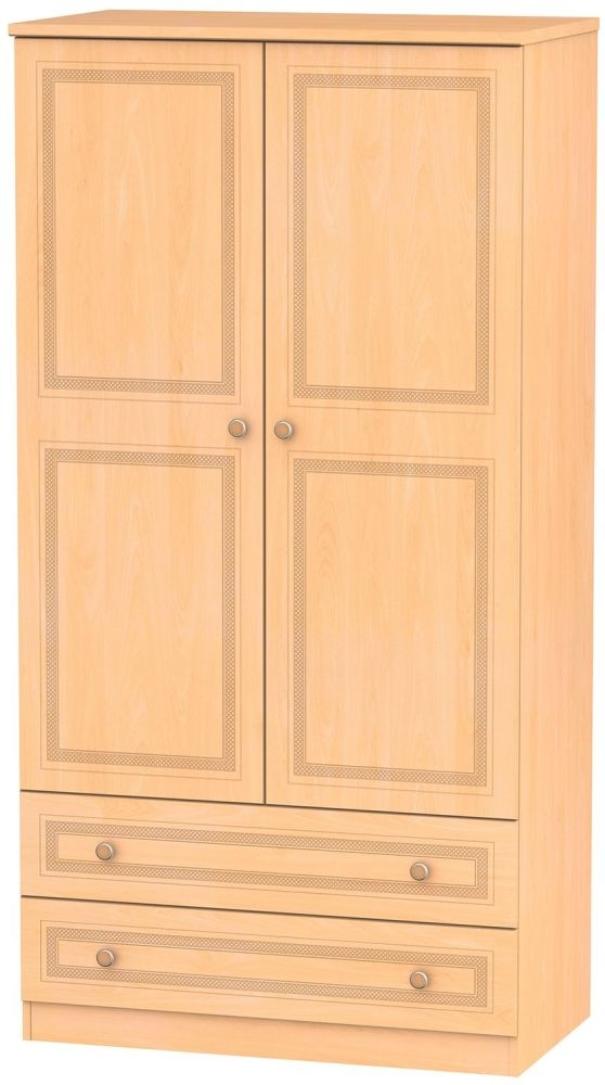 Corrib Beech Wardrobe - 3ft with 2 Drawer