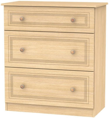 Corrib Light Oak Chest of Drawer - 3 Drawer Deep