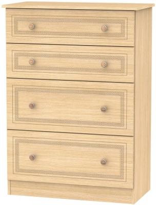 Corrib Light Oak Chest of Drawer - 4 Drawer Deep