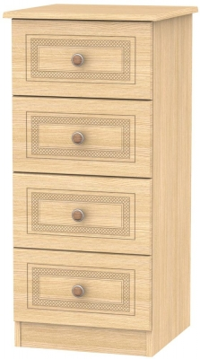Corrib Light Oak Chest of Drawer - 4 Drawer Locker