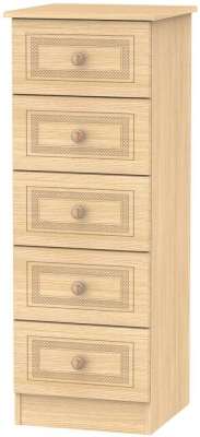 Corrib Light Oak Chest of Drawer - 5 Drawer Locker