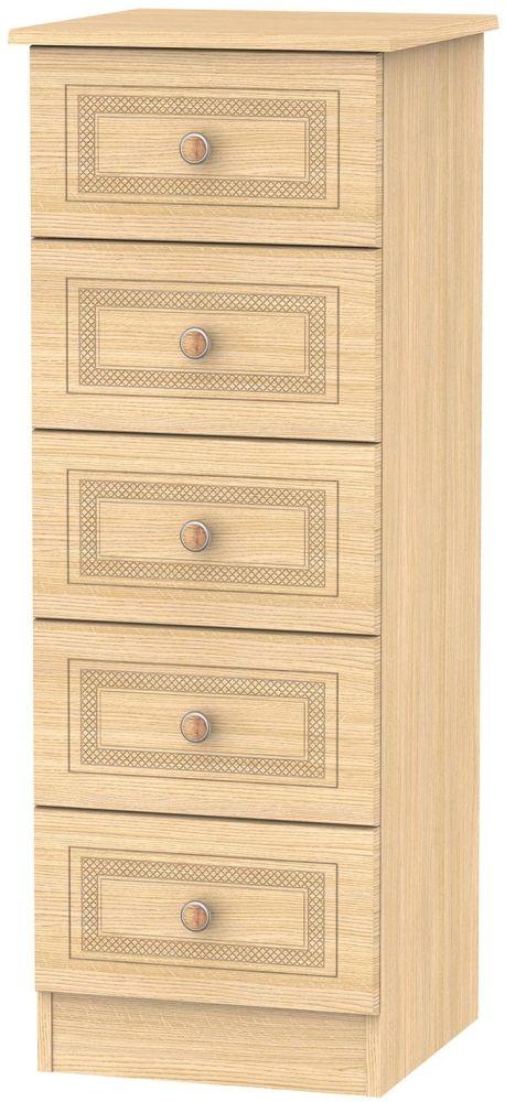 Corrib Light Oak Chest of Drawer - 5 Drawer Locker