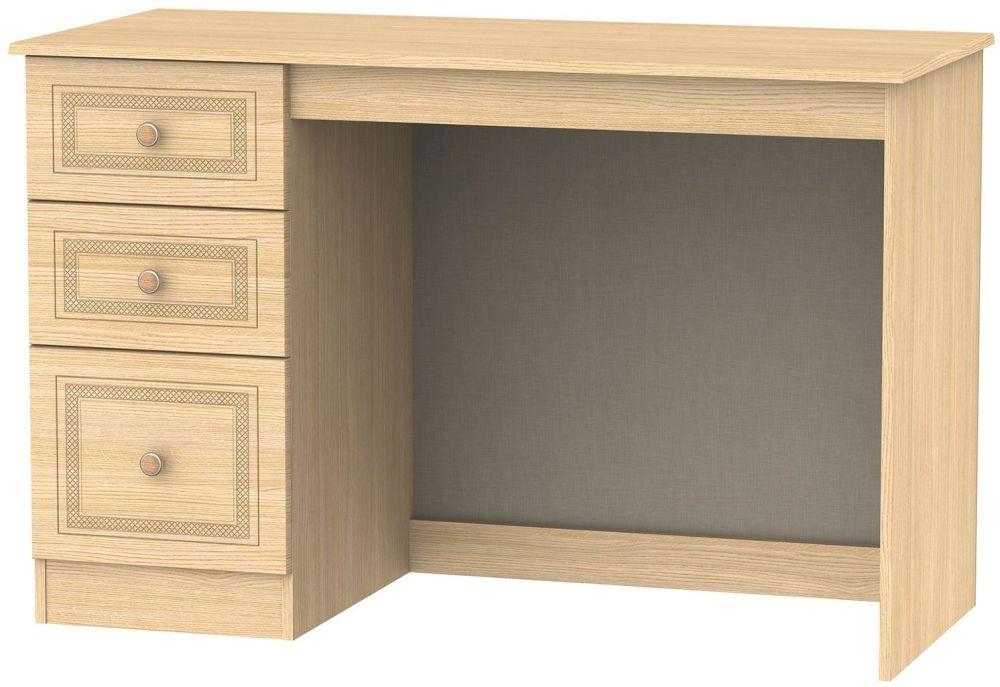 Corrib Light Oak Desk - 3 Drawer
