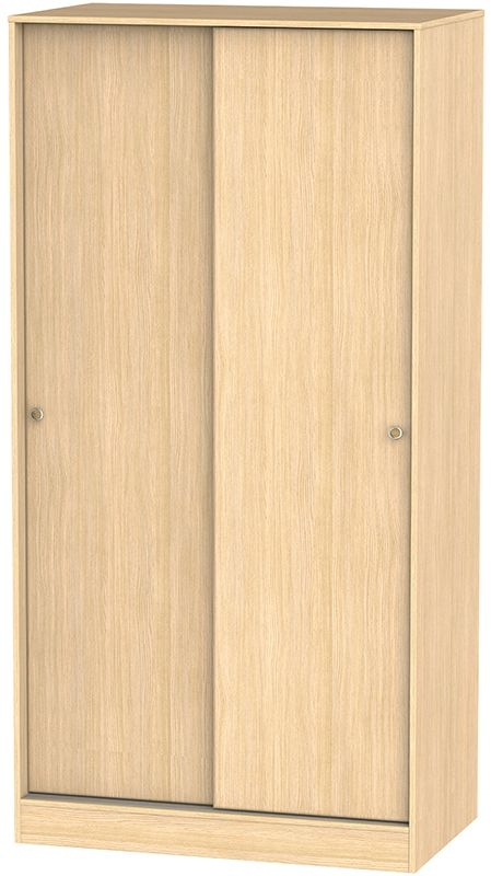 Corrib Light Oak Sliding Wardrobe - Wide