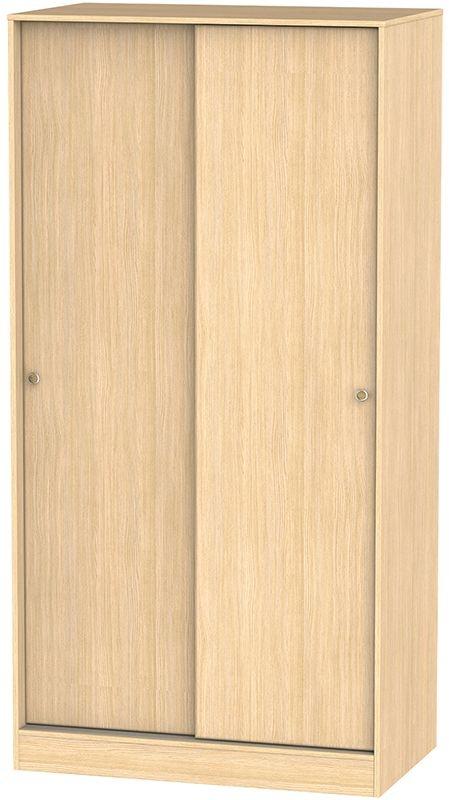 Corrib Light Oak Sliding Wardrobe - Wide