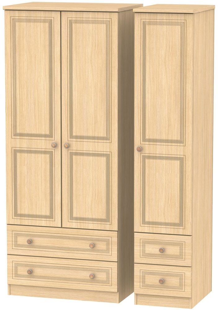 Corrib Light Oak Triple Wardrobe with Drawer