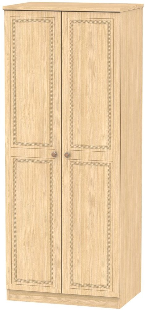 Corrib Light Oak Wardrobe - 2ft 6in with Plain