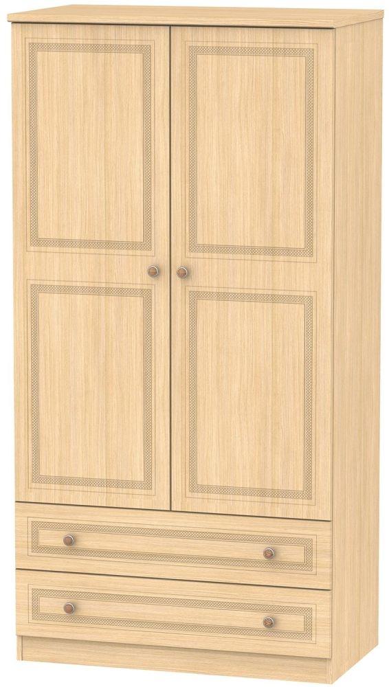 Corrib Light Oak Wardrobe - 3ft with 2 Drawer