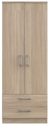 Devon Bardolino 2 Door 2 Drawer Tall Wardrobe