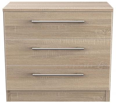 Devon Bardolino 3 Drawer Bedside Cabinet