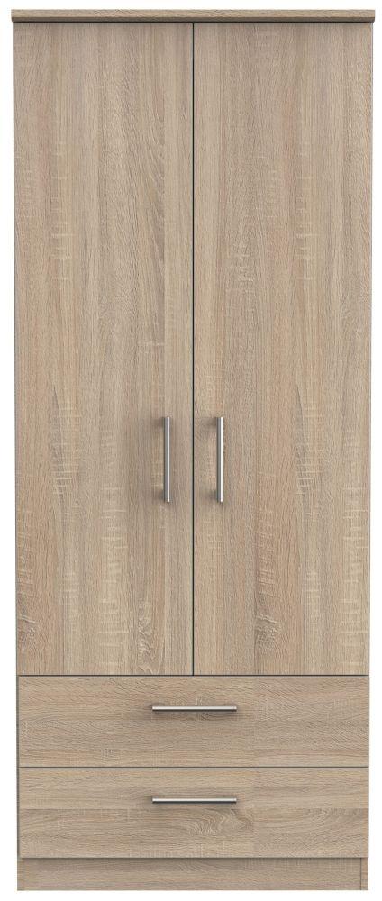 Devon Bardolino 2 Door 2 Drawer Wardrobe