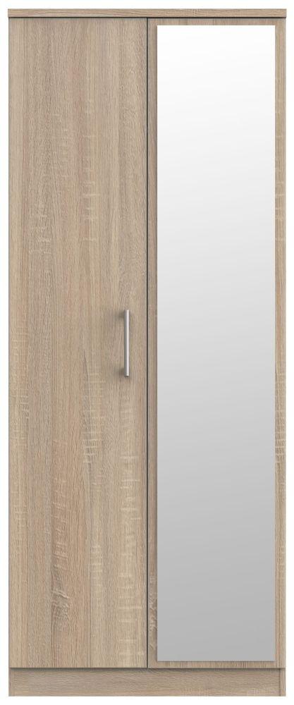 Devon Bardolino 2 Door Mirror Wardrobe