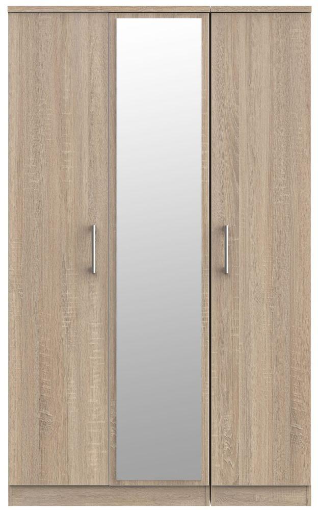 Devon Bardolino 3 Door Mirror Wardrobe