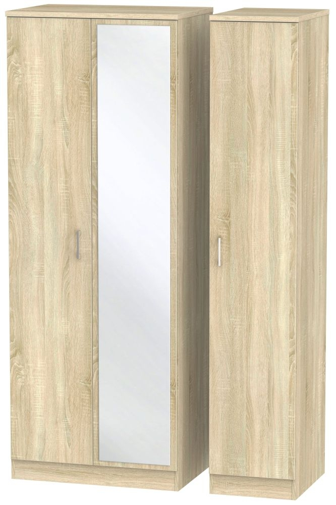 Devon Bardolino Triple Wardrobe - Tall with Mirror
