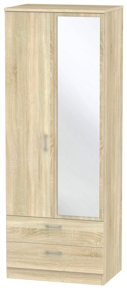 Devon Bardolino 2 Door 2 Drawer Tall Mirror Wardrobe