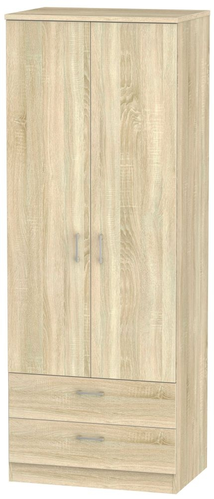Devon Bardolino 2 Door 2 Drawer Tall Double Wardrobe