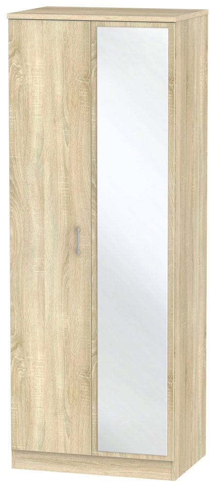 Devon Bardolino 2 Door Tall Mirror Wardrobe