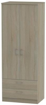 Devon Darkolino 2 Door 2 Drawer Tall Wardrobe