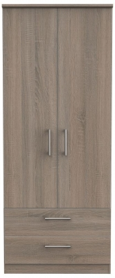 Devon Darkolino 2 Door 2 Drawer Wardrobe