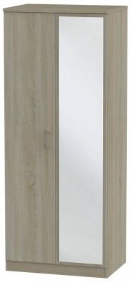 Devon Darkolino 2 Door Mirror Wardrobe