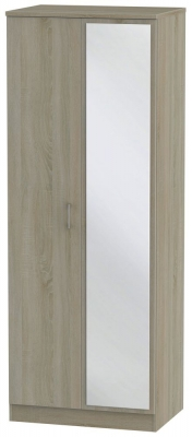Devon Darkolino 2 Door Tall Mirror Wardrobe