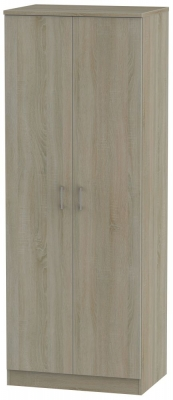 Devon Darkolino 2 Door Tall Wardrobe