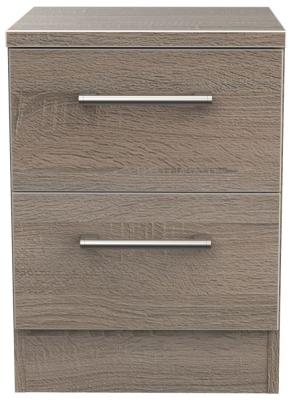 Devon Darkolino 2 Drawer Bedside Cabinet