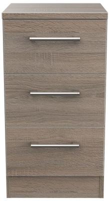 Devon Darkolino 3 Drawer Bedside Cabinet