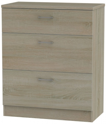 Devon Darkolino 3 Drawer Deep Chest