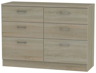 Devon Darkolino 6 Drawer Midi Chest