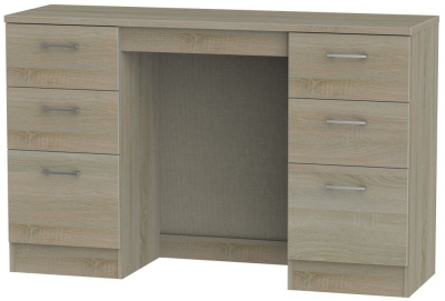 Devon Darkolino Double Pedestal Dressing Table