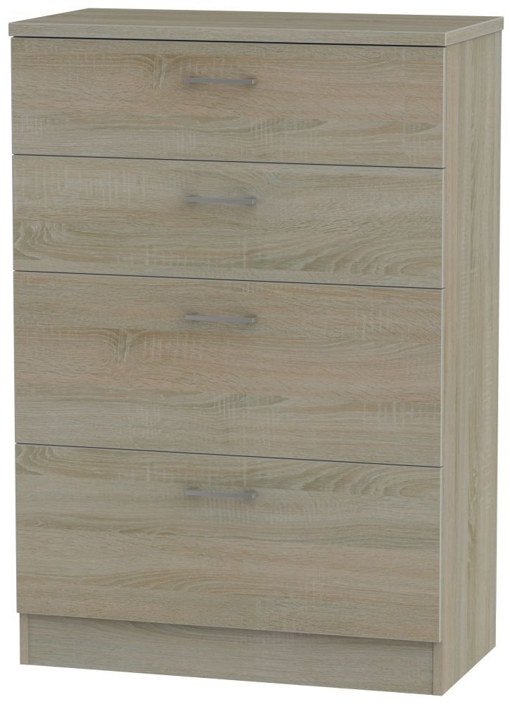 Devon Darkolino Chest of Drawer - 4 Drawer Deep