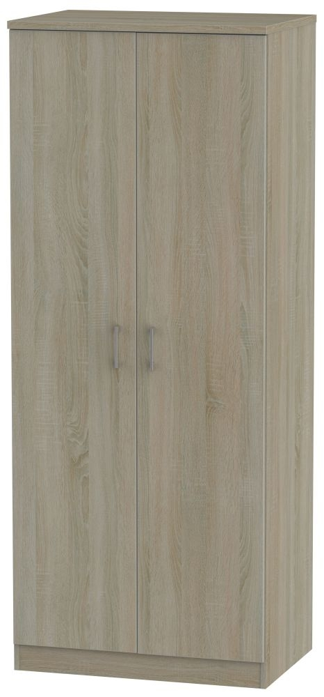 Devon Darkolino 2 Door Plain Wardrobe
