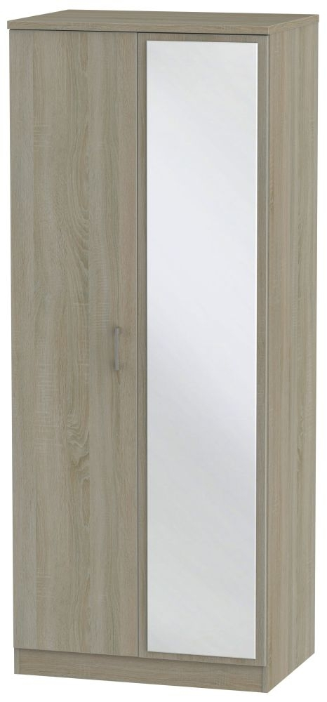 Devon Darkolino Wardrobe - 2ft 6in with Mirror
