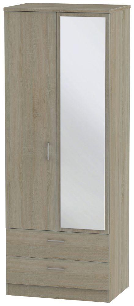 Devon Darkolino 2 Door Combi Wardrobe